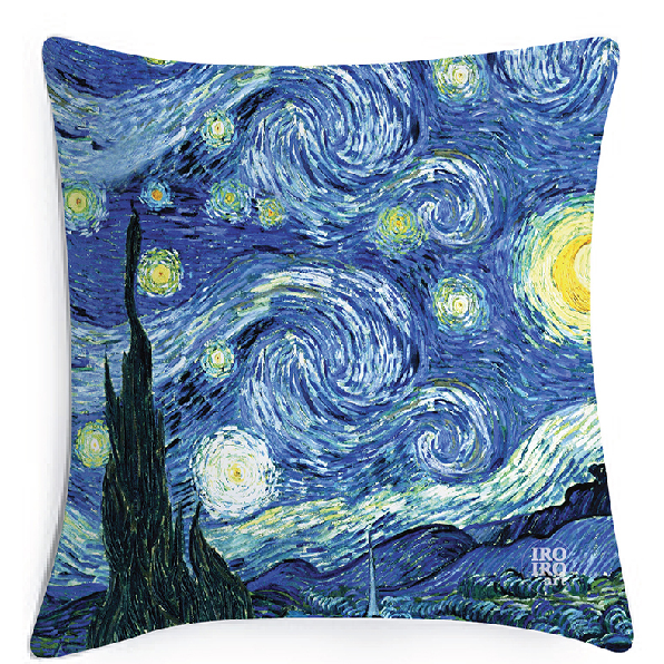 """Funda de cojín 45x45cm  """"Noche estrellada"""" Van Gogh (1889)"""