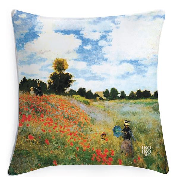 """Funda de cojín 45x45cm  """"Las Amapolas""""  Claude Monet (1873)"""