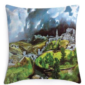 """Funda de cojín 60X60cm """"Vista de Toledo"""" El Greco (1604/1614)"""