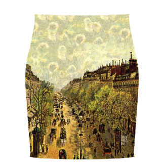 """Falda """"Boulevard  Montmatre"""" Camille Pisarro (1897)"""