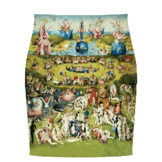 """Falda """" El jardín de las delicias""""  El Bosco (1500)"""