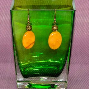 Pendientes ágatas amarillas 01 iroiroart.com