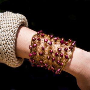 Pulsera de perlas naturales 02 iroiroart.com