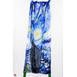 """Pañuelo  """"Noche estrellada""""  Van Gogh"""