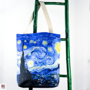 """Bolso de tela """"Noche estrellada"""" Van Gogh"""