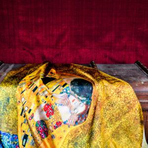 "Pañuelo ""El Beso""  Gustav Klimt"