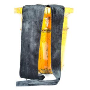Cinturón de terciopelo negro