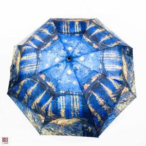 """Paraguas plegable """"Noche estrellada sobre el Ródano """" Van Gogh"""