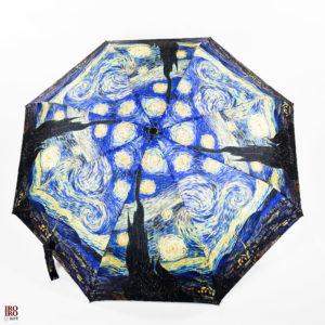 "Paraguas plegable ""Noche estrellada"" Van Gogh"
