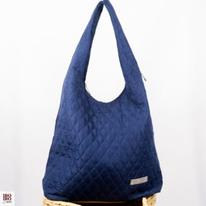 Bolso de tela guateada azul marino