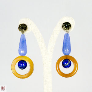 Pendientes de lapislázuli  y ágatas