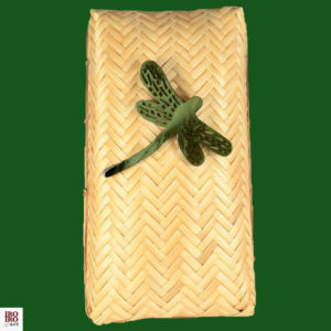 Broche libélula verde