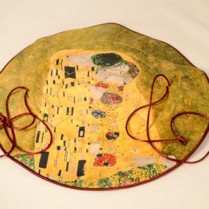 """Joyero de viaje """"El beso"""" Gustav Klimt"""