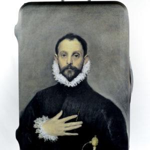 """Protector de maleta """"El caballero de la mano en el pecho """" El Greco (1578-1580)"""