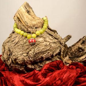 Collar de aventurina y colgante de coral 01 iroiroart.com