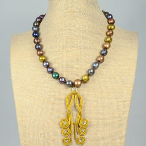 Collar de perlas y oro vegetal 03 iroiroart.com