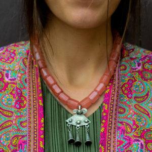 Collar de cuarzo cereza