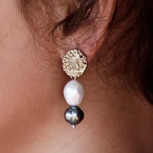 Pendientes de perlas naturales