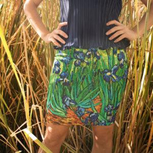 "Skirt ""The irises"" Van Gogh (1889)"
